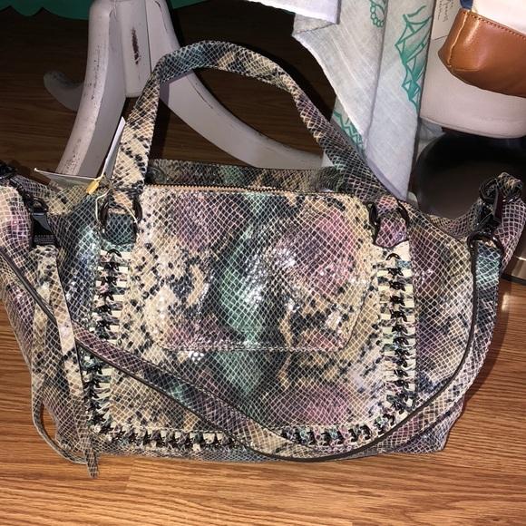 7a96c2c321ca Aimee Kestenberg Handbags - Aimee Kestenberg snake skin leather qvc bag
